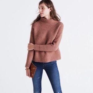 Madewell Southfield Mockneck Sweater XS Tan Wool